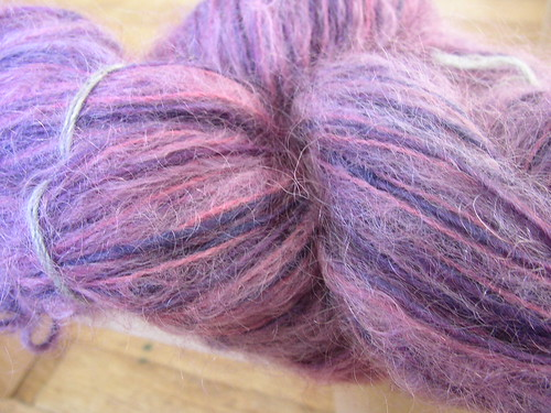 Windrush indigo cochineal mohair wool