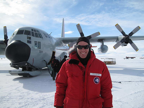 Logan Mitchell arrives in Antarctica