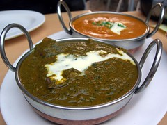Lamb Saag and Chicken Korma - Northern Indian,...