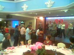 Singing and dancing @ birthday dinner