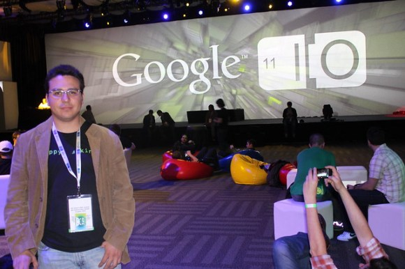 Gabriel Saldaña at Google IO after party