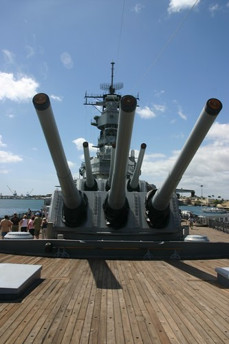 USS Missouri guns