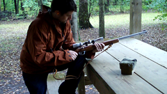 Andrew with the .22 rifle