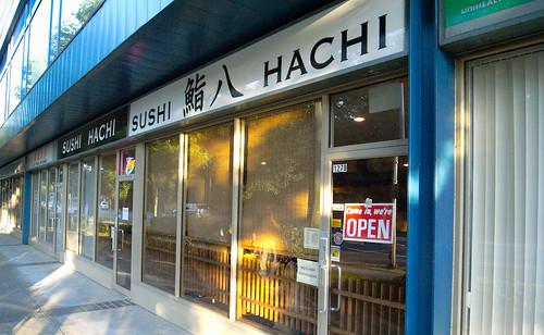 Sushi Hachi - Exterior facing Cambie