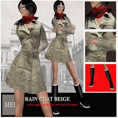 Rain Coat Beige