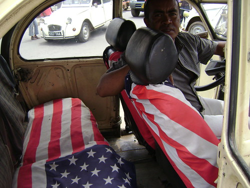 One of the last taxis I hailed in Tana was all-American!