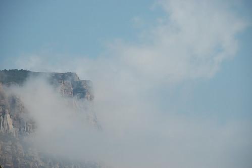clifftop clouds
