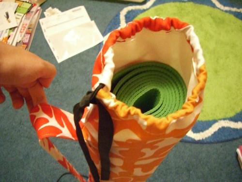 yoga mat bag top