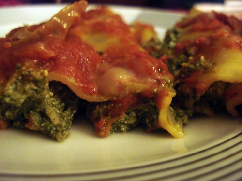 Spinach canneloni
