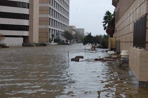 Flooding at UTMB after Hurricane IkeIke