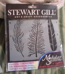Stewart Gill Feather Stencil