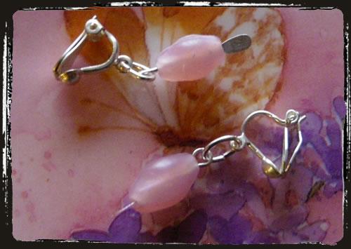 Orecchini rosa - Pink earrings MEHMRCL