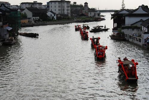 Floating Down Village River