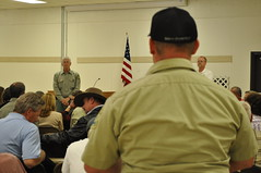 Chief listens to employee question at Lassen N...