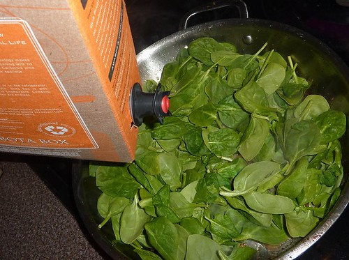 Spinach & Box of Wine