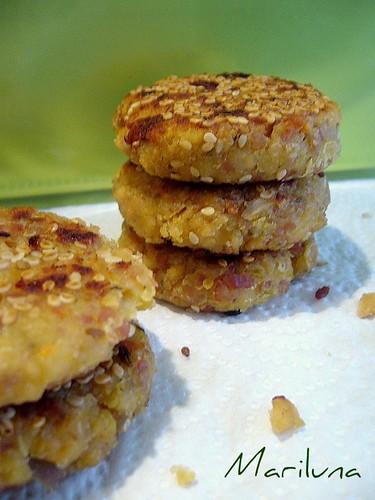 crocchette di ceci con tofu e prosciutto crudo