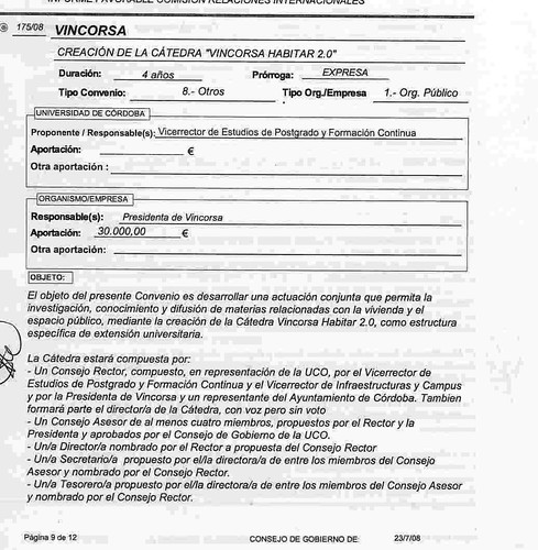 Convenio Catedra Vimcorsa Habitar 2.0.