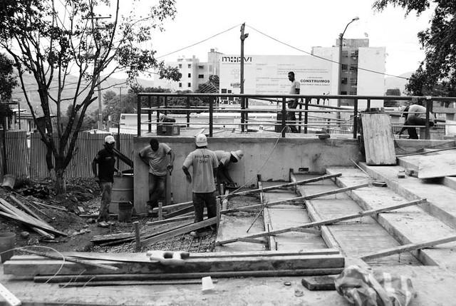 Construcción Plaza Caucagüita, Mcpio Sucre, Caracas
