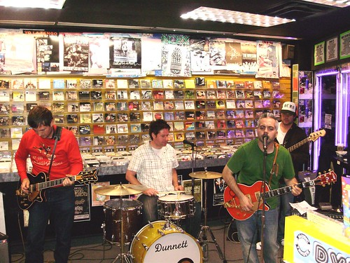 The Awkward Stage live! in-store performance at Music Trader on October 4 2008