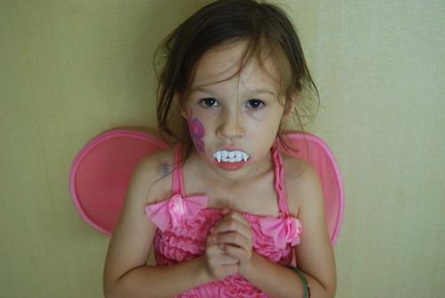 Gracie's Vampire Fairy - Halloween 2008