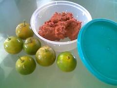 STP's laksa ingredients - belacan and lime
