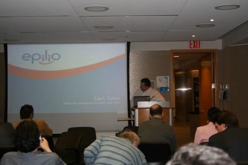Carl Tyler presenting @trilug