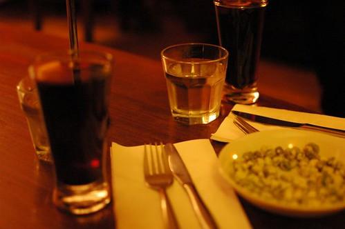 Mulled wine, wasabi peas