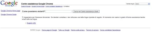 Google Chrome: come possiamo aiutarti?