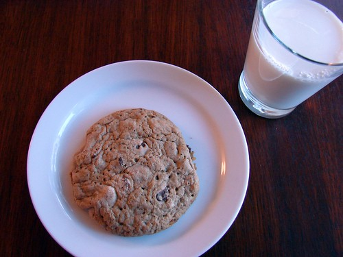 milk + cookie