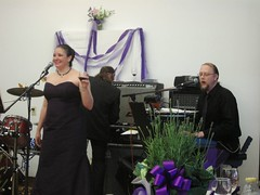 the bride and groom perform