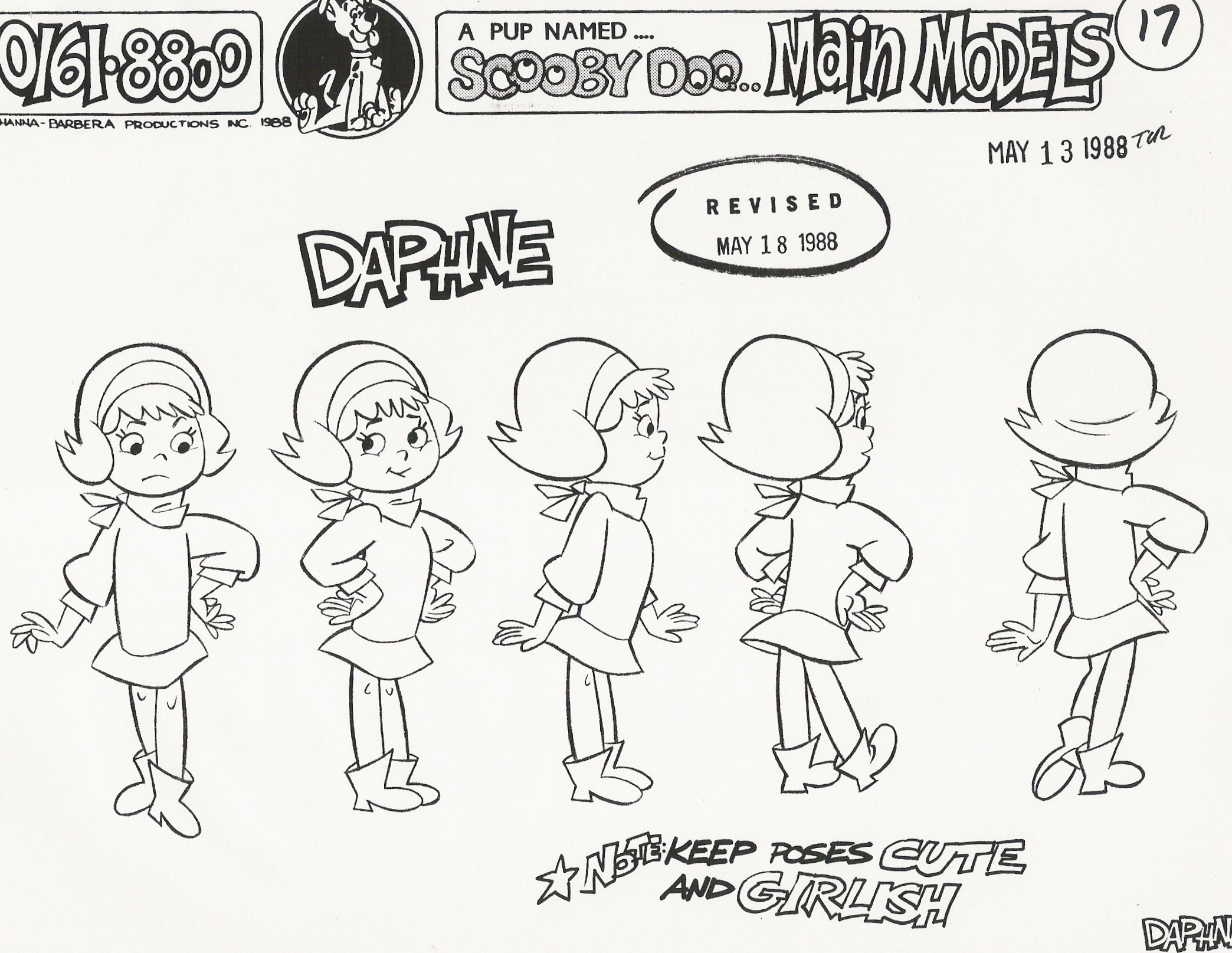 High Quality Pup Named Scooby Doo Model Sheets Scooby