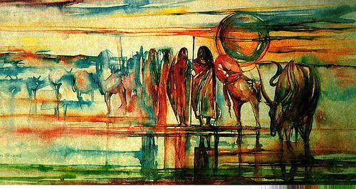 'Maasai herding', by Kahare Miano