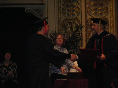 Zach gets his diploma