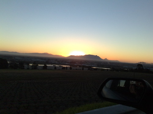 Sunset over Tabel Mountain