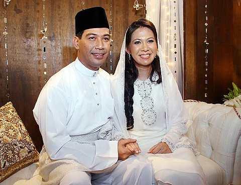 Gambar Wedding Rusdi Ramli dan Sharon Paul Kahwin