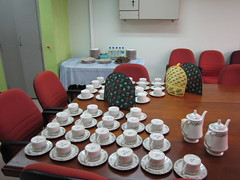 Tea after the presentation