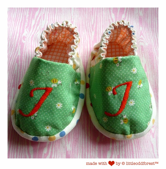 wee lil' alphabet shoes