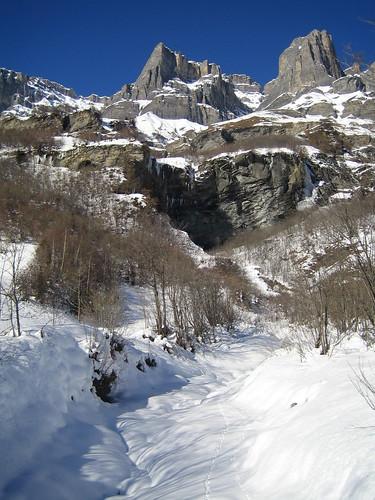 Mountain peaks around Leukerbad
