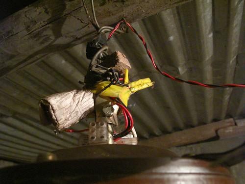 Nepali wiring job on our ceiling fan.
