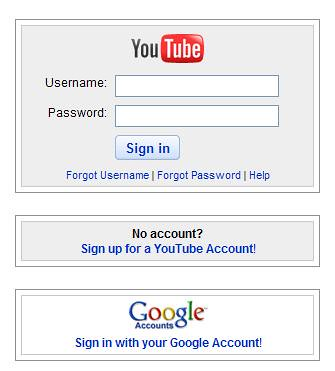 YouTube - Sign In