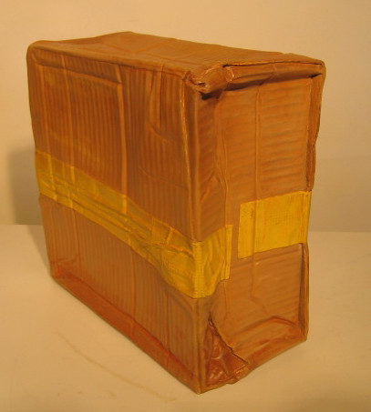 Wet Box, 2006, Polychromed Wood, 12 x 11.5 x 6.5 inches.