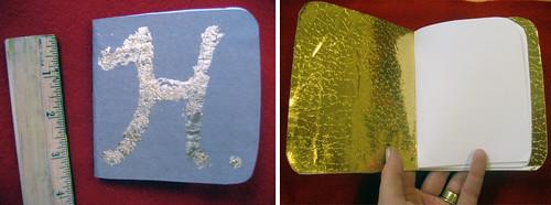 mini gold leaf journal how-to 2