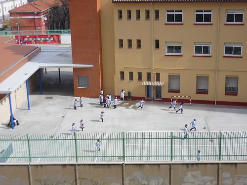 Children playing in school yard
