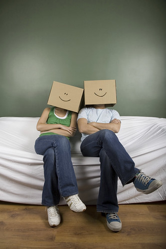 Master your emotions and save the discomfort of having to wear a box over your head.