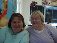 Michele & Shannon at Breakfast