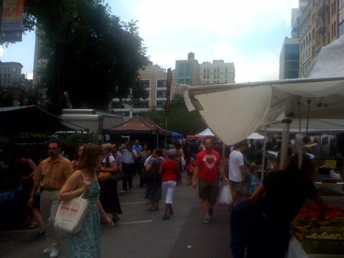 The Union Square farmers market