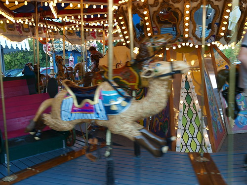 Leaping Camel on Carousel at Ellas Deli