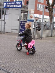 everyone rides bicycles in the Netherlands