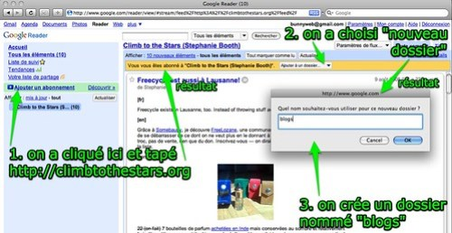 Google Reader: s'abonner à un blog