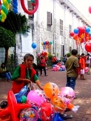 Balloon vendor by the Basilica